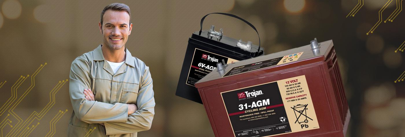 Использование тяговых гелевых и AGM аккумуляторов.